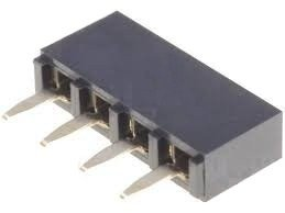 Gniazdo kołkowe 2,54mm - 4 piny