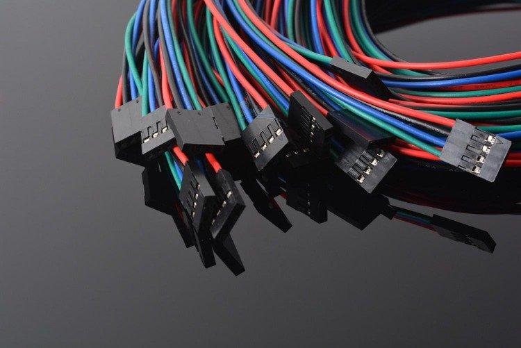 przewody 4-piny 70cm F-F do czujników drukarki