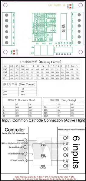 Sterownik CNC silnika krokowego tb6560A 3A