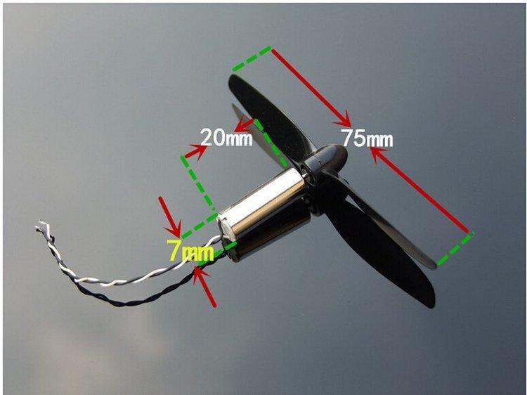 Silnik do micro drona 720 CW - Silnik 7x20mm 3,7V - 46500 RPM