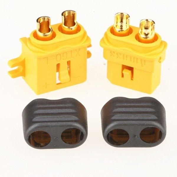 Wtyki XT60-L z osłoną i stopką - Konektor XT60-L