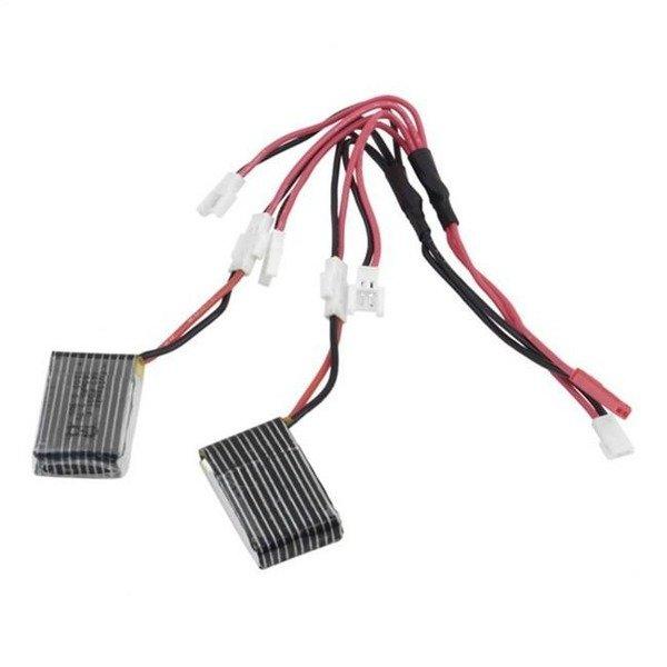 Przewód ładowarki 3,7V 1-in-5 do Syma V930 V977 V966 i X5C JXD385 FY310B , Walkera Hubsan X4