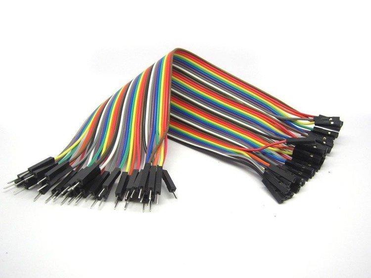 Przewody kable zworki 40 szt 20cm