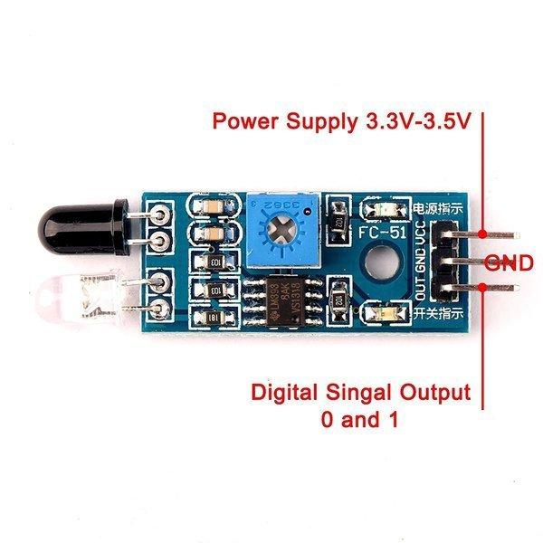 Detektor przeszkod lm393
