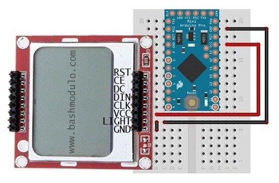 LCD do arduino - NOKIA 5110