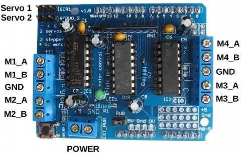 Shield Arduino sterownika L293D
