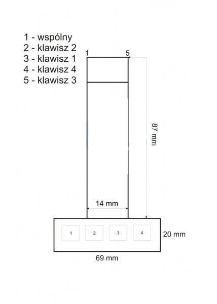 Klawiatura membranowa - 4 klawisze 1x4 - numeryczna - samoprzylepna do Arduino