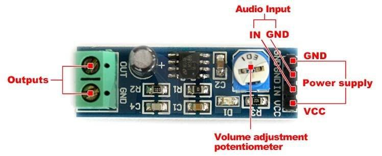 modul wzmaczniacza audio lm386