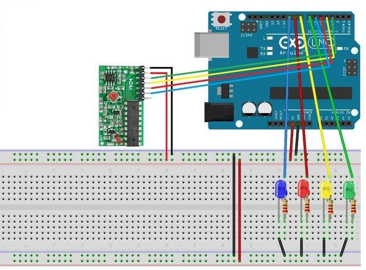 Schemat połączenia modułu do Arduino