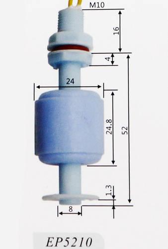 Czujnik pływakowy poziomu cieczy, wody M10