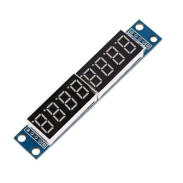 Wyświetlacz LED 8-cyfr 7-seg z kontrolerem MAX7219