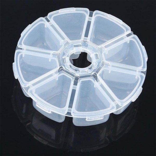 Organizer okrągły - 8 przegródek - zamykany - 105x27mm
