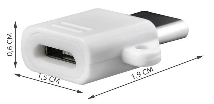 Adapter OTG micro usb - typ c