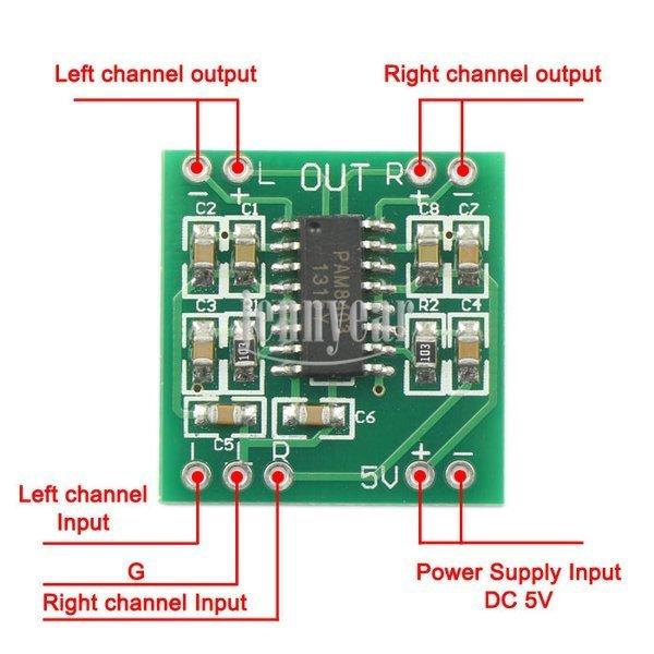 Wzmacniacz audio PAM8403