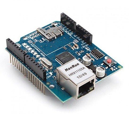 Moduł sieciowy shield W5100 z czytnikiem kart microSD - Arduino