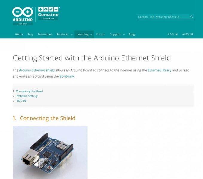 rozpoczynanie z arduino ethernet