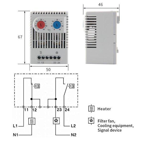 miniaturowy termostat