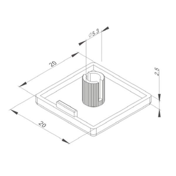 zatyczka do profili aluminiowych