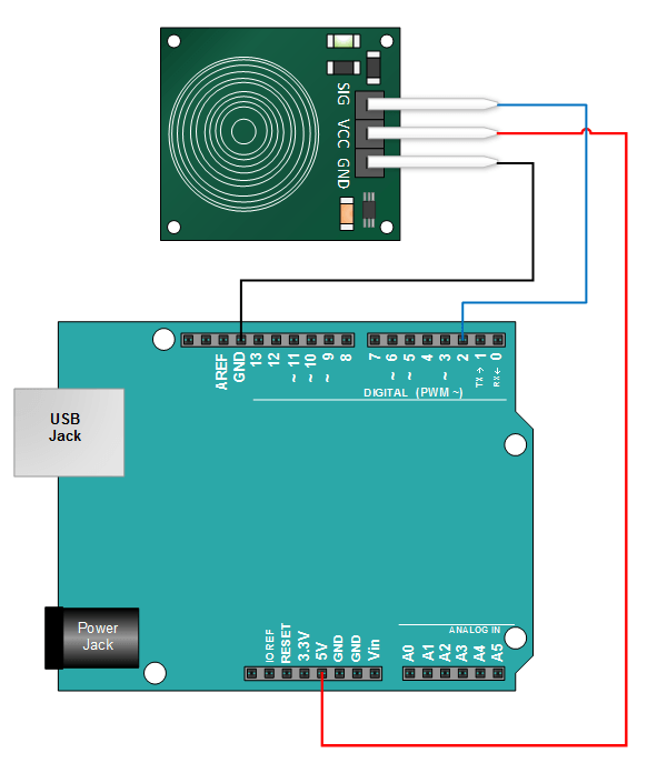 modul czujnik dotykowy ttp223b