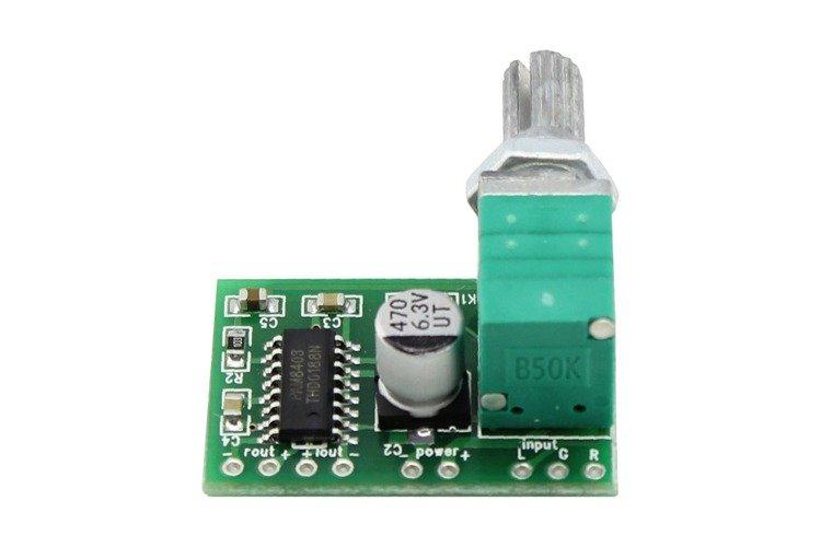 mini moduł wzmacniacz audio z potencjometrem
