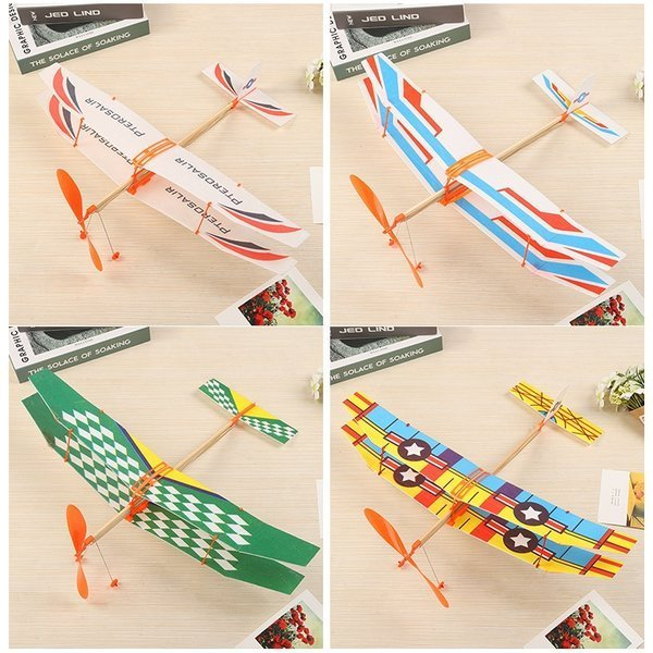 samolot dwupłatowy z napędem gumowym dla dzieci