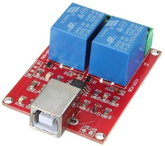 Moduł 2 przekaźników 10A/230V sterowanych z USB