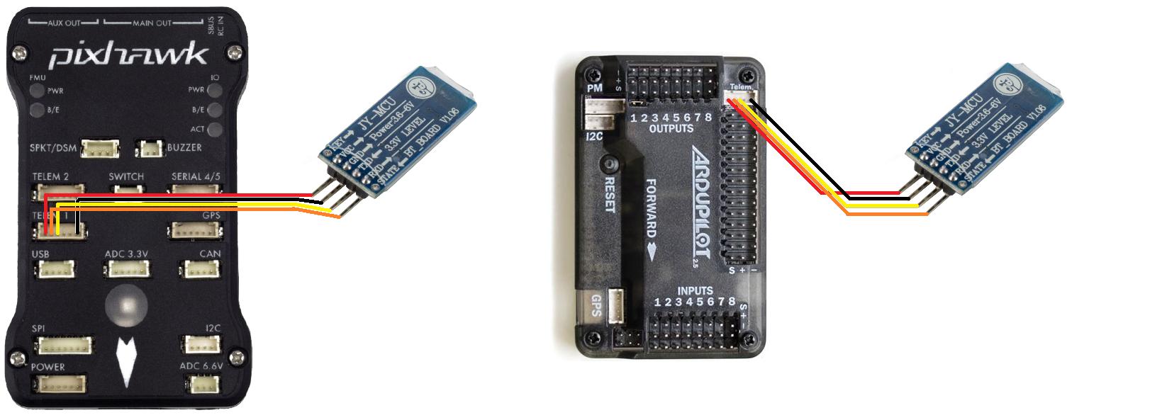 Bluetooth do ArduPilot APM 2.5 i 2.6