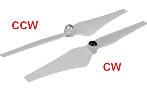 śmigła CW i CCW opis