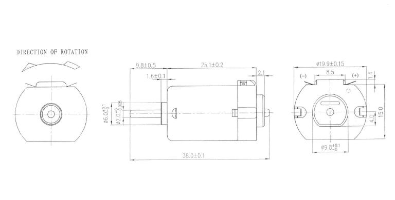 Silnik DC 3V klasy 130